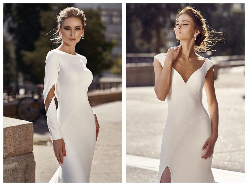 The image of the bride in the minimalism style from BeverlyBride TM