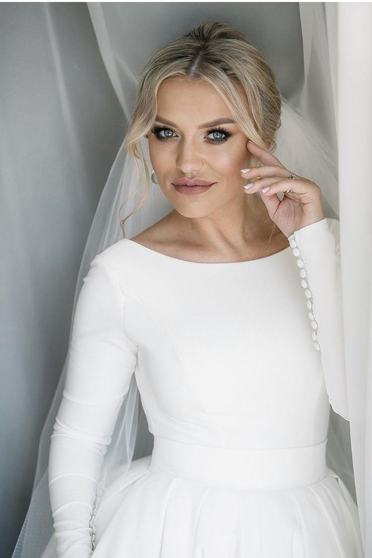 Winter Wedding Dress Real Beverly Bride